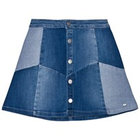Mayoral Blue Denim Patchwork Skirt 5