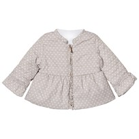 Mayoral Beige Frill Detail Spot Reversible Puffer 25