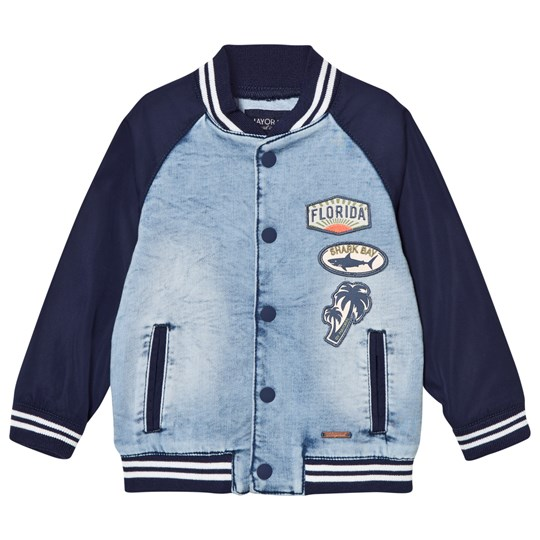 Mayoral Navy and Denim Badge Bomber Jacket 47