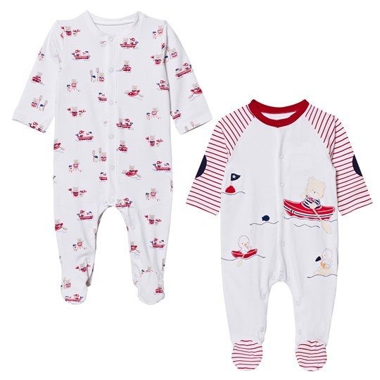 Mayoral 2 Pack of Footed Baby Body Animal Print 71