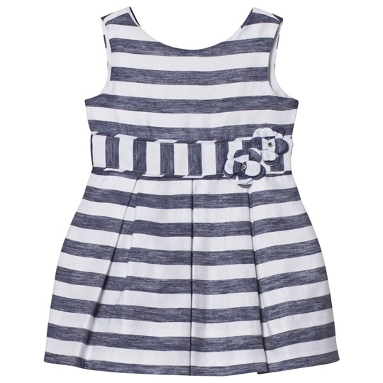 Mayoral Navy Stripe Bow Dress 35