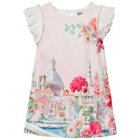 Mayoral Pink Venice Print Frill Sleeve Dress 48