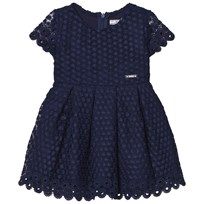 Mayoral Navy Eyelet Dress 34