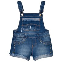 Mayoral Mid Wash Short Dungarees with Turn Up Detail 5