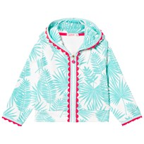 Billieblush Turquoise Palm Print Towelling Hoody Z40
