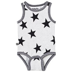 Molo Fadel Baby Body Black Star Print