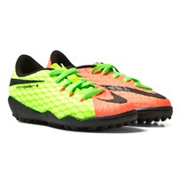 NIKE Green Hypervenom Phelon III Turf Football Boots ELECTRIC GREEN/BLACK-HYPER ORANGE-VOLT