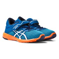 Asics Blue FuzeX Lyte 2 PS  Trainers IMPERIAL/WHITE/HOT ORANGE