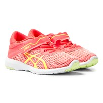 Asics FuzeX Lyte 2 PS Trainers Rosa DIVA PINK/SAFETY YELLOW/WHITE