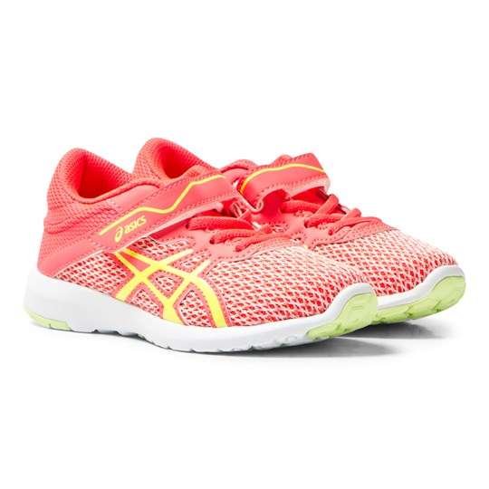Asics Pink FuzeX Lyte 2 PS Trainers DIVA PINK/SAFETY YELLOW/WHITE
