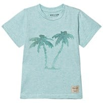 Mini A Ture Palmtree, MK T-Shirt SS Aquatic Blue Aquatic Blue