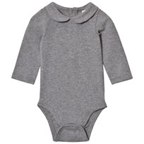 Gray Label Baby Body med Krage Grå Melange Grey Melange
