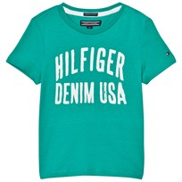 Tommy Hilfiger Green Branded Tee 379