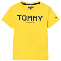 Tommy Hilfiger Yellow and Navy Branded Tee 706