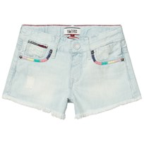 Tommy Hilfiger Bleached Denim Shorts with Multi Detail 911