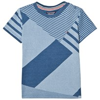 Tommy Hilfiger Blue Denim Printed Tee 405
