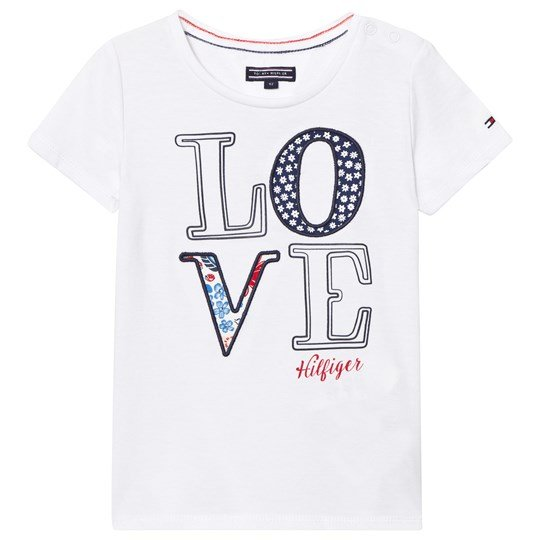 Tommy Hilfiger White Applique Love Tee 122