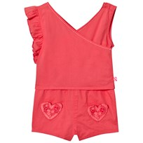Billieblush Romper Heart Pocket Coral 43D