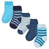 Melton Numbers 5-pack Socks - Mix Stellar Stellar