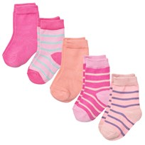 Melton Numbers 5-pack Socks - Mix Dusty Pink Dusty Pink