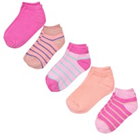 Melton Numbers 5-pack Footies - Mix Dusty Pink Dusty Pink