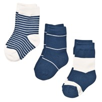 Melton Numbers 3-pack Socks - Stripes Stellar Stellar