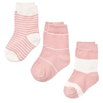 Melton Numbers 3-pack Socks - Stripes Chintz Rose Chintz Rose
