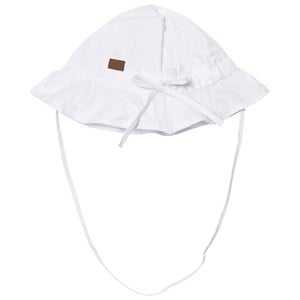 Image of Melton Hat With Brim And Bow Solid White 45 cm (2980469077)