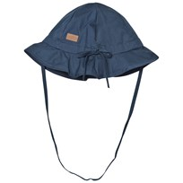 Melton Hat With Brim And Bow Solid Marine Marine