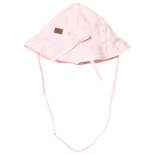 Melton Hat With Brim And Bow Solid Baby Pink Baby Pink