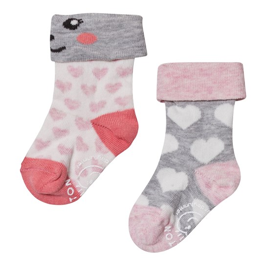 Melton 2-pack Baby Heart Socks Hushed Violet Hushed Violet