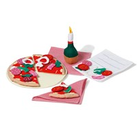 oskar&ellen Pizza Firenze Restaurant Set Red