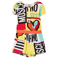 Moschino Kid-Teen Multi Moschino Playsuit 80964