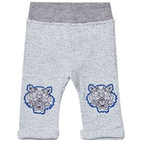 Kenzo Grey Marl Sweat Pants with Tiger Detail 421