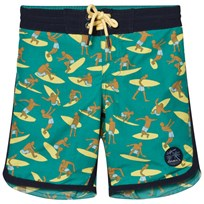 Oneill Green Surf Patch Boardshorts GREEN AOP