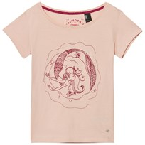 Oneill Pink Mermaid Bay Graphic Tee Pale Blush