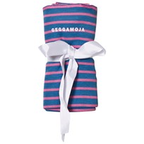 Geggamoja Bamboo Cuddly Blanket Marine And Pink Marin/Strong Pink