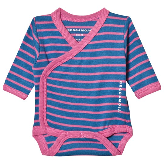 Geggamoja Premature Baby Body Marine and Pink Marin/Strong Pink