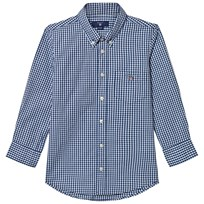 Gant Navy and White Gingham Shirt 423