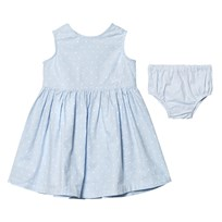 Gant Pale Blue Spot Dress with Knickers 455