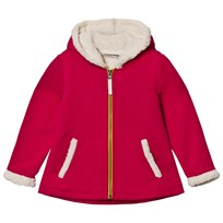 Lands' End Red Sherpa Lined Hoodie BRIGHT TEABERRY