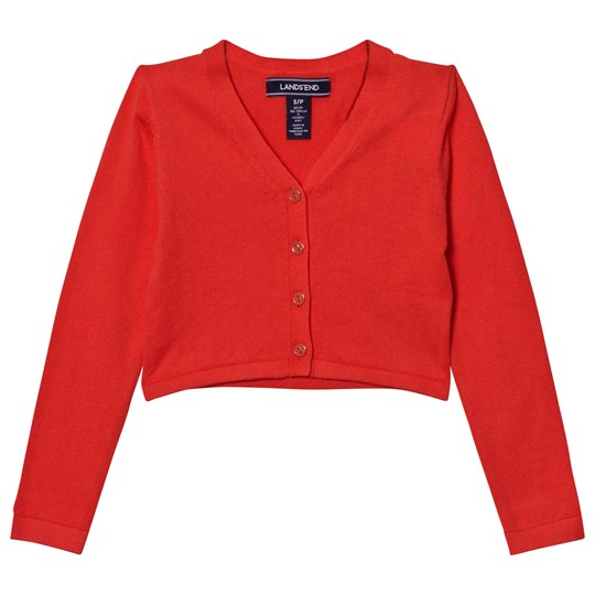 Lands' End Orange Sophie Cardigan CRIMSON DAWN