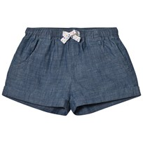 Lands' End Blue Chambray Pull On Shorts LIGHT INDIGO BLUE
