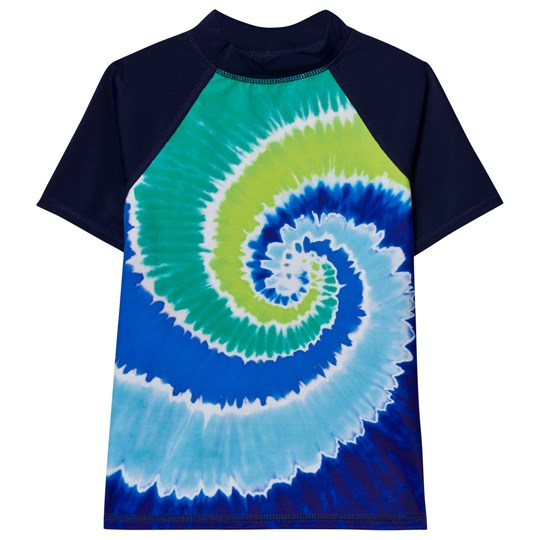 Lands' End Navy Raglan Color Block Rashguard NAVY SWIRL