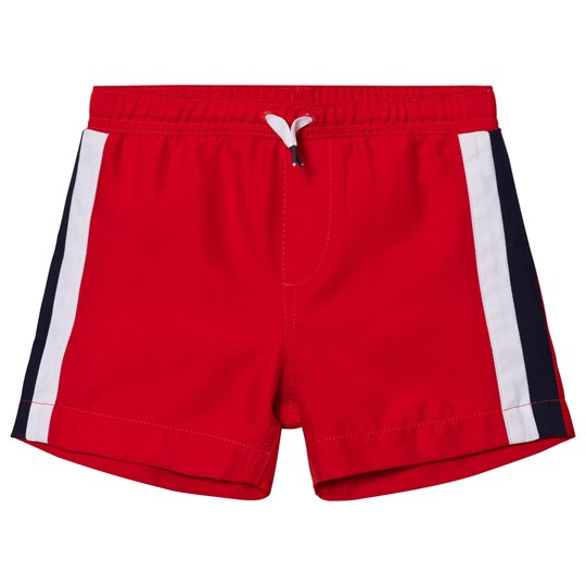 Lands' End Orange Side Stripe Swim Trunks DAILY ORANGE