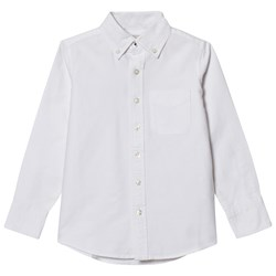 Lands' End White Washed Oxford Shirt