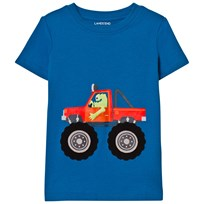 Lands' End Blue Applique Graphic Tee MONSTER TRUCK