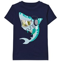 Lands' End Navy Applique Graphic Tee OH YEAH