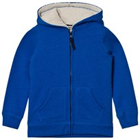 Lands' End Blue Sherpa Lined Hoodie Vibrant Blue