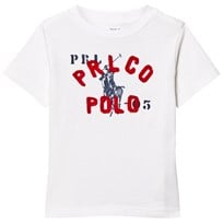 Ralph Lauren White Branded Graphic Tee 001